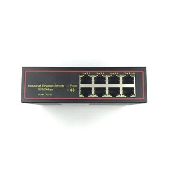 5V-58V 8 port 10/100M DIN-Rail Unmanaged industrial Ethernet Switches 8 port ethernet switch