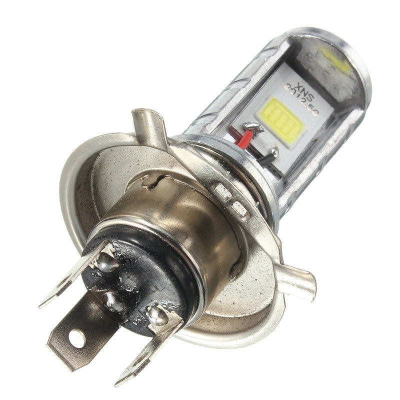 1 шт. 12 Вт H4 мотоциклетные лампы светодиодные лампы Hi/Lo луч Фары для автомобиля налобный фонарь передний свет лампы 6000 -6500 К 1200lm