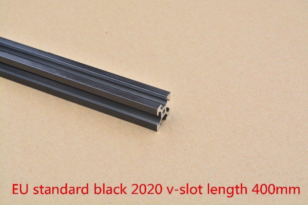 2020 Aluminum Extrusion Profile European Standard  V-slot Black Length 400mm   Workbench 1pcs