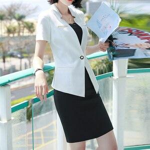 Cheapest New Fashion Women Skirt Suit 2 Piece Sets Short Sleeve Blazer And Mini Skirt For Summer Office Ladies Uniform Work Wear Plus 4XL — wickedsick