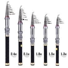 1.3-2.4m  Best Stick Fishing Rod Feeder Telescopic Spinning Rod De Carbon Fiber Olta Surf Carp Fishing Pole for China Supplies