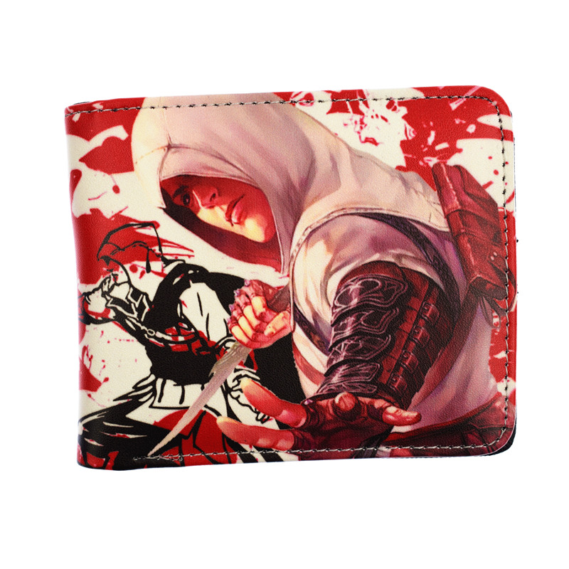 FVIP Game Assassin's Creed /Super Mario Short Wallet PU High Quality Purse For Man With Coin Pocket 5 pcs lot cartoon anime wallet wholesale nintendo game pocket monster charizard pikachu wallet poke wallet pokemon go billetera