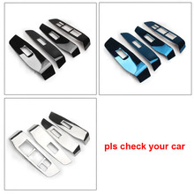 4pcs for dongfeng AX7 2018 Glass lifting switch panel Decoration frame