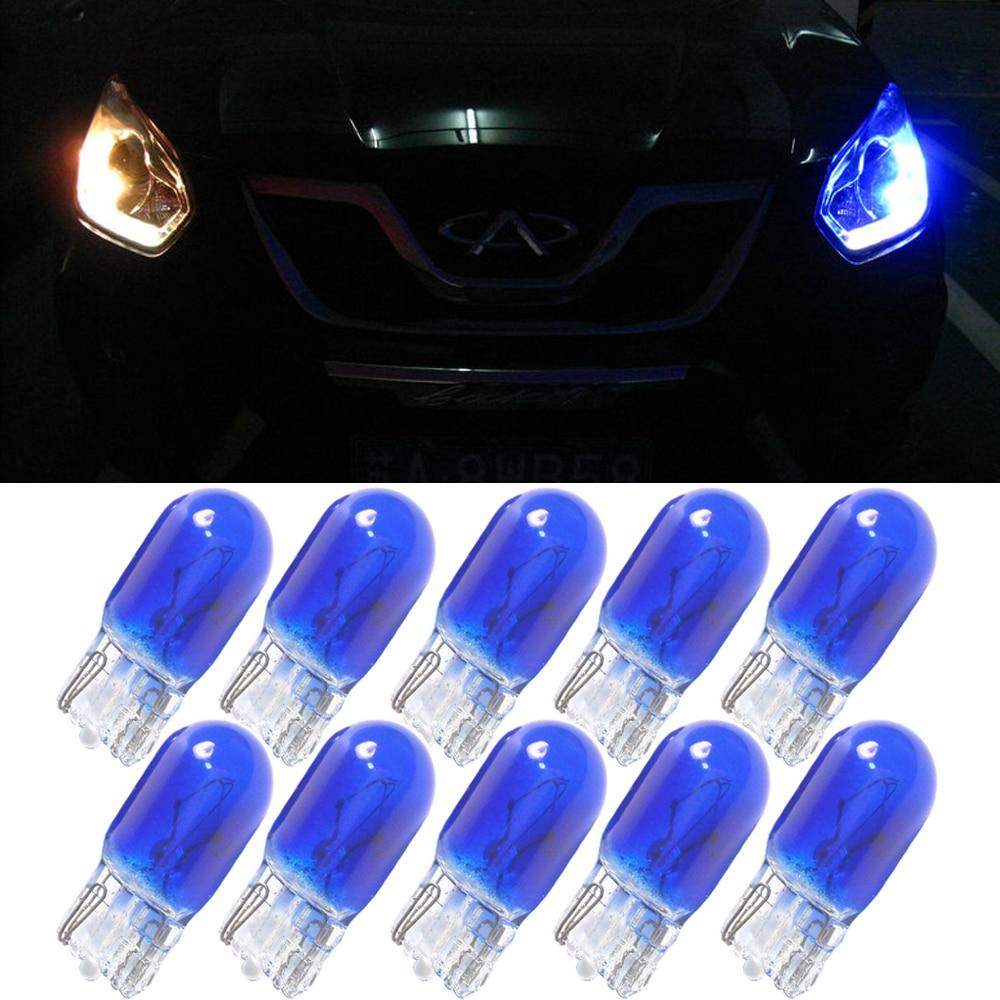 2//10Pcs T5//T10//T20 Halogen Bulb Side Wedges Car Light Source Instrument Lamp