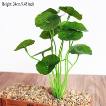 Green leaf plants lotus fake flowers artificial grass silk flower decoration home shoots