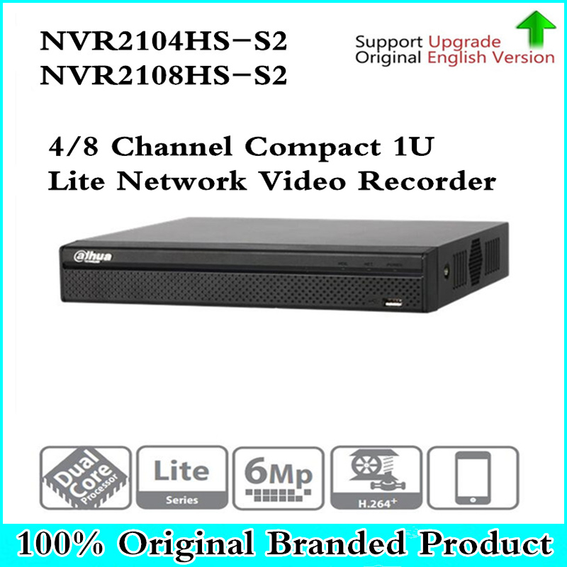 цена на Origina NVR2104HS-S2 NVR2108HS-S2 4/8 Channel Compact 1U Lite Network Video Recorder with SATA Interface Support H264+ IP Camera
