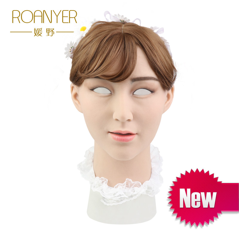 Roanyer Laurel crossdresser silicone artificial skin realistic transgender latex sexy cosplay for male halloween party supplies
