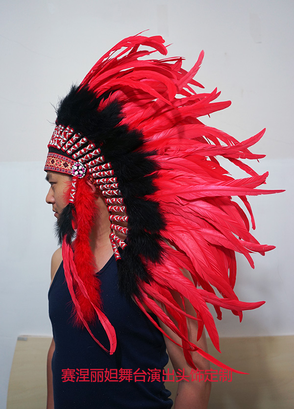 Feather Wall Decoration Custom-made Indian Chief Hat Home Bar Villa Upscale Decoration Comes Custom-made