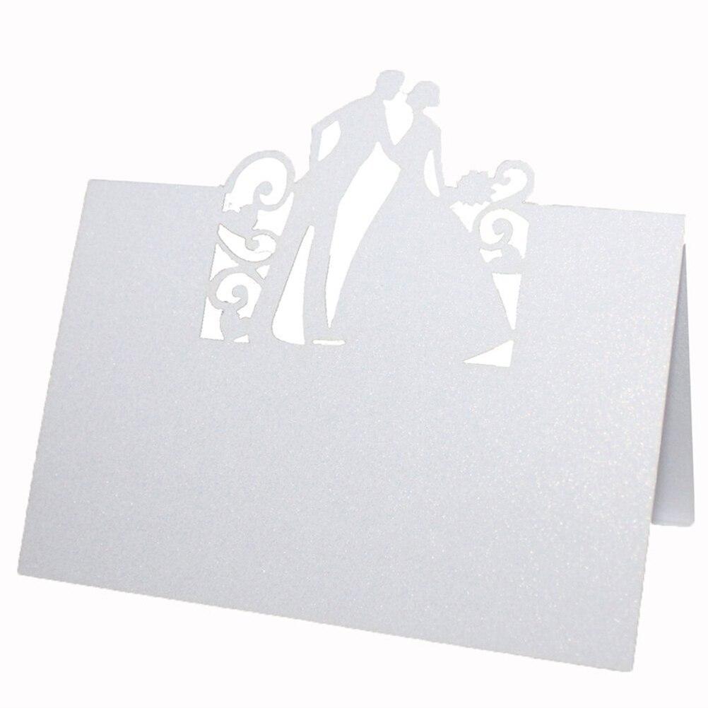 50 pcs Kartu Tempat Nama Kartu Undangan Pengantin Pesta Pernikahan Meja  Dekorasi Mr Mrs Cinta Jantung 6887134348