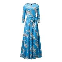 Ms Spring 2017 New Dress In Women S Long Sleeve Dress Printing Temperament Round Collar Plus