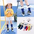 2017 New Angel Wings Spring Autumn Children's Soft Cotton Baby Knee High Knee High Socks for Baby Girls for