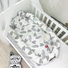 CACX Новое Детское гнездо кровать или малыш размер гнездо мяты и Совы портативная кроватка Co спальное гнездо для новорожденных и малышей разборные