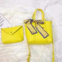 Mesdames mode rétro soie foulard lettre seau sac décontracté solide couleur sac à main sac à bandoulière femme épaule fête sacs à main H30603