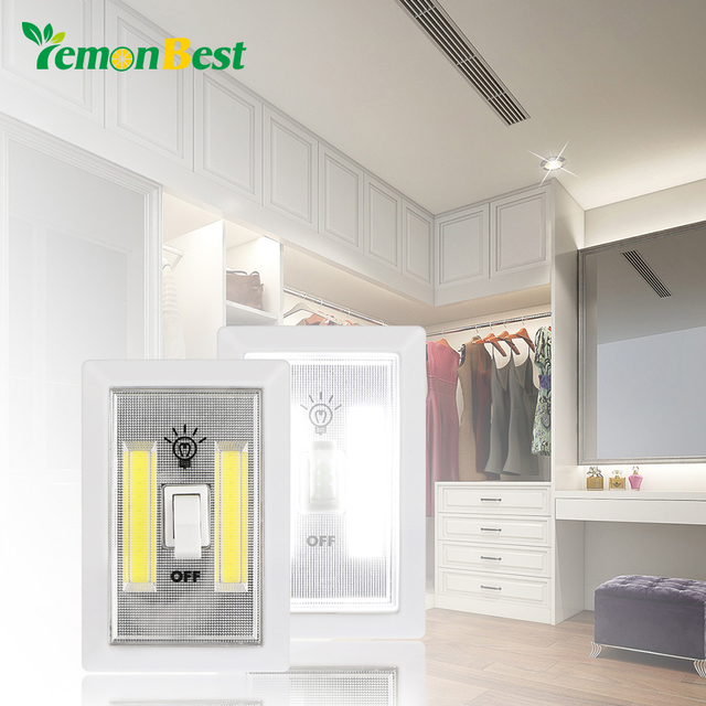 Garage Lights That Come On At Night: Lemonbest Magnetic Ultra Bright Mini COB LED Night Light