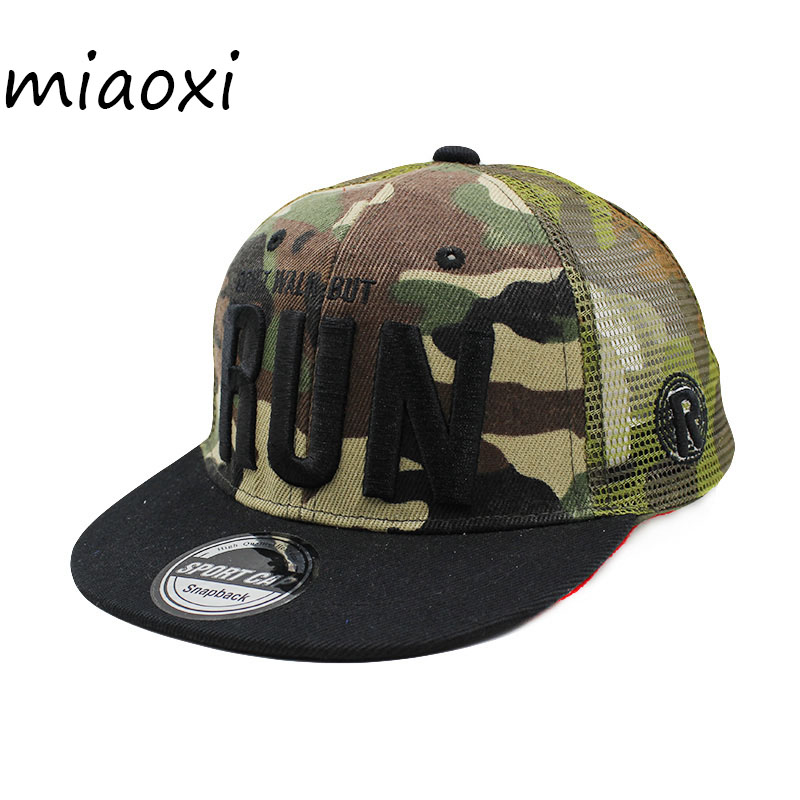[miaoxi] Child   Baseball     Cap   Casual Hat Boy Summer   Caps   New Fashion Child Adjustable Letter Unisex Hats Grid Ventilation Snapback