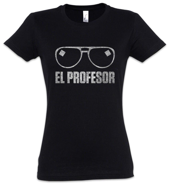 El Professor Women T-shirt Money Mask La Casa Heist De Papel Dali Tokio Glasses