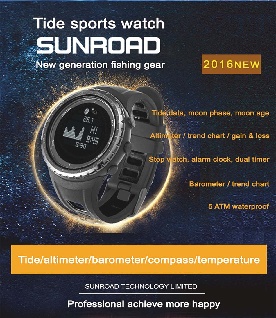 Sunroad moon phase watch smart tide fishing digital thermometer getsubject aeproduct nvjuhfo Images