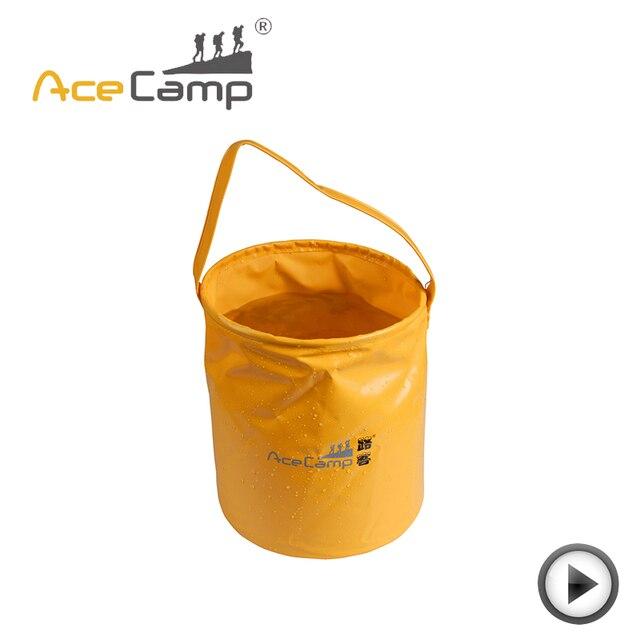 8f3bc4ca4 AceCamp 10L Acampamento Ao Ar Livre Balde Dobrável de Lavagem Portátil  Camping Pesca Pano Malha Saco Frete Grátis