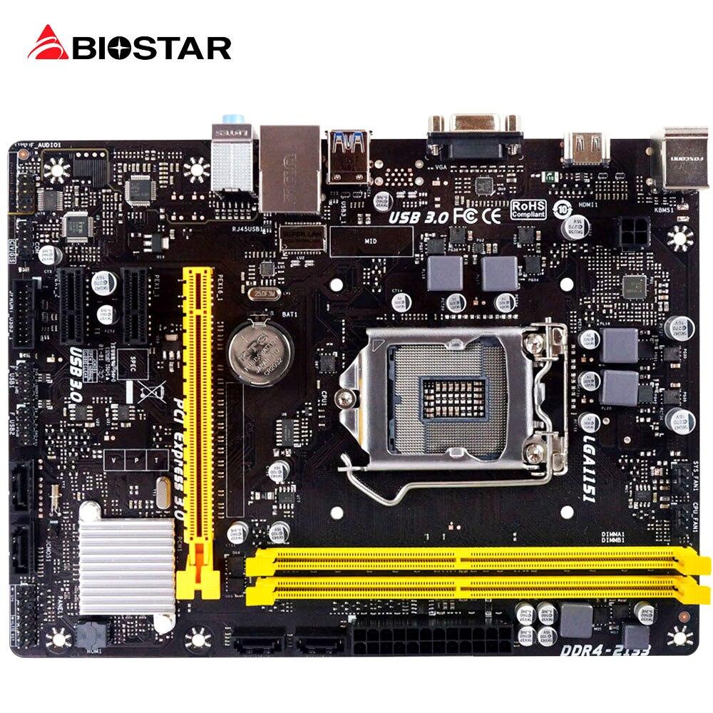 BIOSTAR H110MHC New Motherboard Core CPU I3 I5 I7 7700 6600 6500 7600 7500 LGA 1151 Micro-ATX DDR4 2400/2133 Computer Mainboard