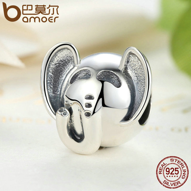 Sterling Silver Elephant Long Nose Big EARS Animal Charm