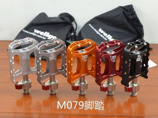 100% d'origine wellgo qrd-m079 ultra-léger roulement pédale vélo libération rapide pédale vtt pédales de vélo de route pièces de vélo