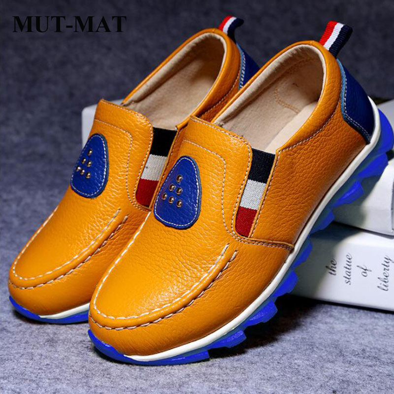 Kid Shoes Children's Leather Shoes Boys Soft Bottom Casual Shoes Comfortable  Fashion Pure Color Wild Single Shoes 3-8 Years Old