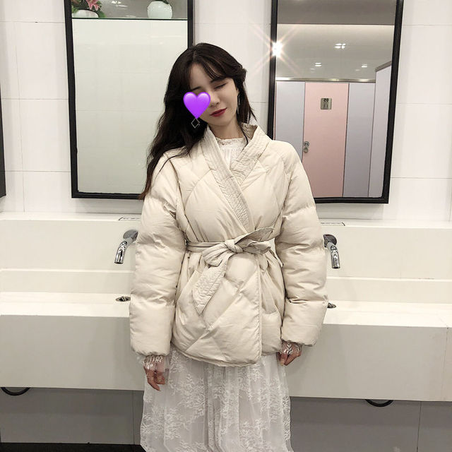 Women Winter Solid Sashes Coat Thick High Quality Students Outwear 25
