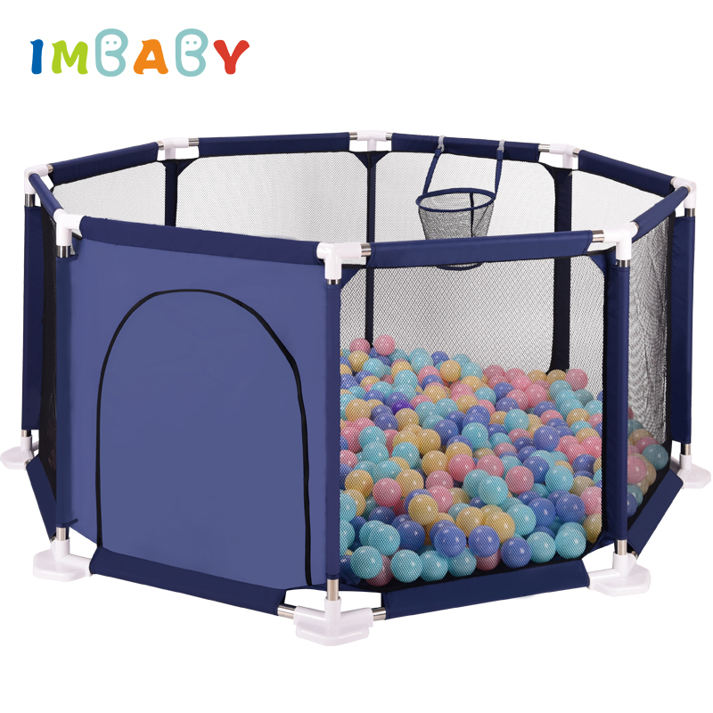 IMBABY Playpen for Children Playpen Octagonal Large Area Kids Tent Pool Balls Baby Playpen Ball Pool