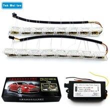 Tak Вай Lee 2X автомобилей гибкие Crytal WaterTelescopic рулевого управления светодиодный DRL дневного света Включите потока сигнала стайлинга автомобилей лампы