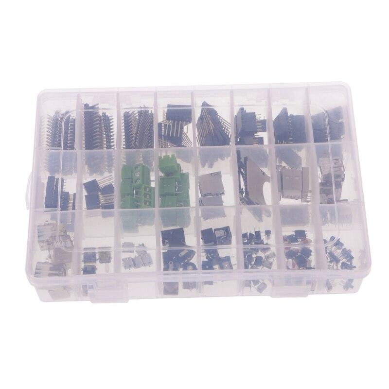 Ootdty 198 unids/1 Unidades DIY comúnmente utilizado macho/hembra conector USB kit para Arduino Arrancadores