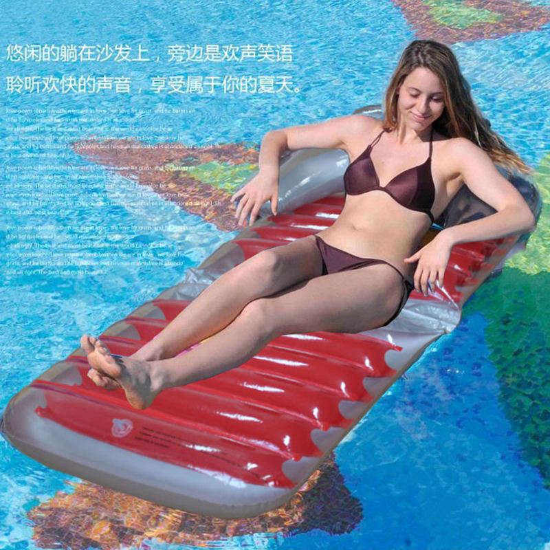 2018 New Foldable Red Inflatable Pool Float Comfortable Inflated Chair  Floating Bed Lounge Beach Pool Raft Air Mattress PVC In Swimming Rings From  Sports ...