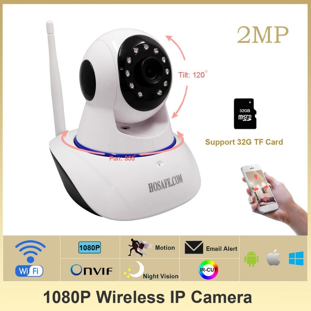ФОТО HOSAFE SV2MW1 1080P Wireless IP Camera HD Pan/Tilt plug and play two way voice  ONVIF IP Camera Software and IP Camera NVR
