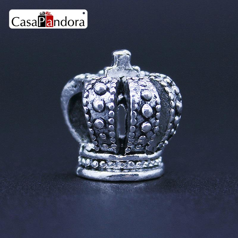 CasaPandora Fashion European Silver-colored King Crown Pope Fit Bracelet Charm DIY Jewelry Making
