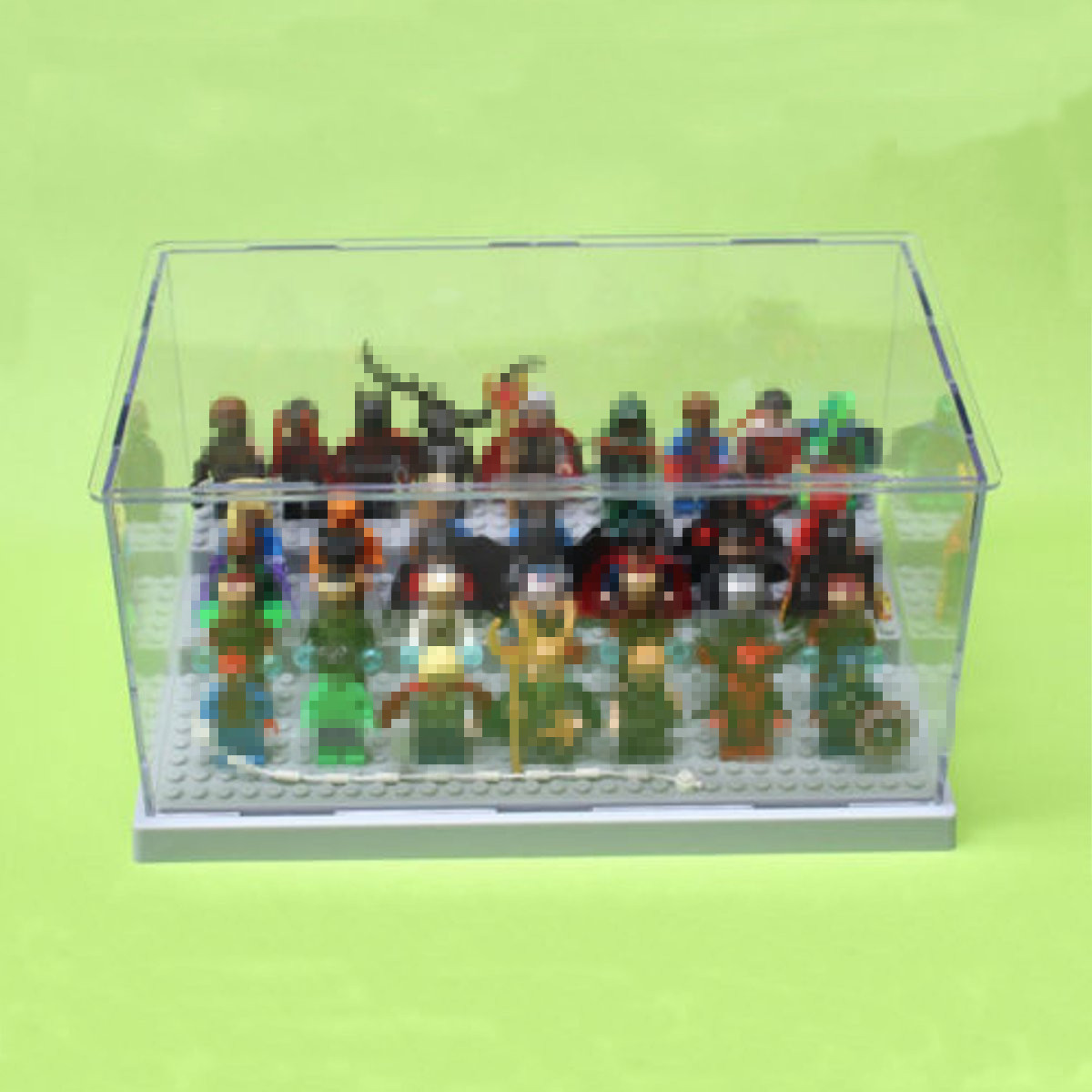 New 3 Steps Display Case Box Dustproof ShowCase Gray Base For LEGO Blocks  Acrylic Plastic Display Box Case 25.5X15.5X13.8cm-in Action   Toy Figures  from ... de6b19d30