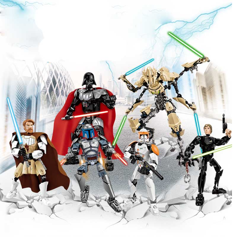 Star Wars Solo Han Maul  Darth White Storm Trooper  Grievous Figure Toys Building Blocks Compatible