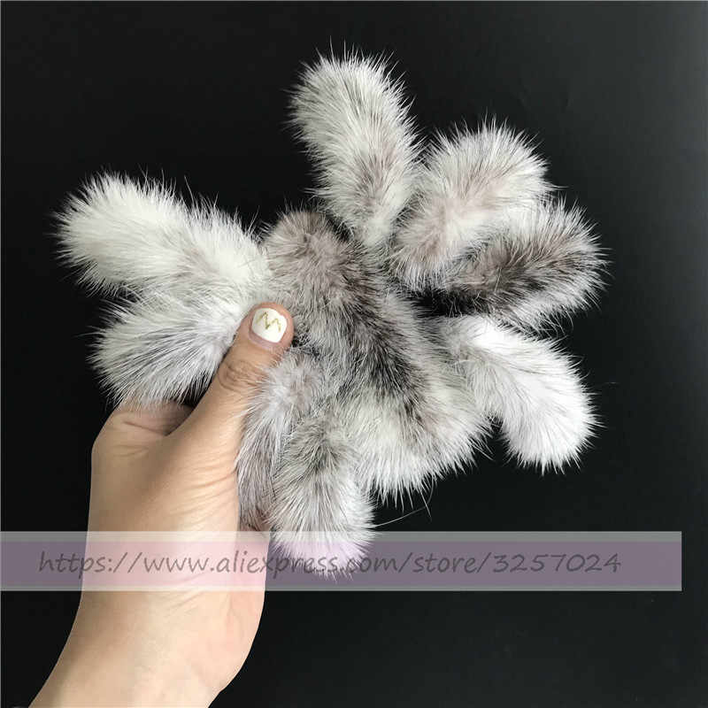Magicfur-меховой паук Настоящий мех норки натуральный крест мех норки животное кукольный брелок Сумочка Кошелек автомобильный брелок для телефона кулон