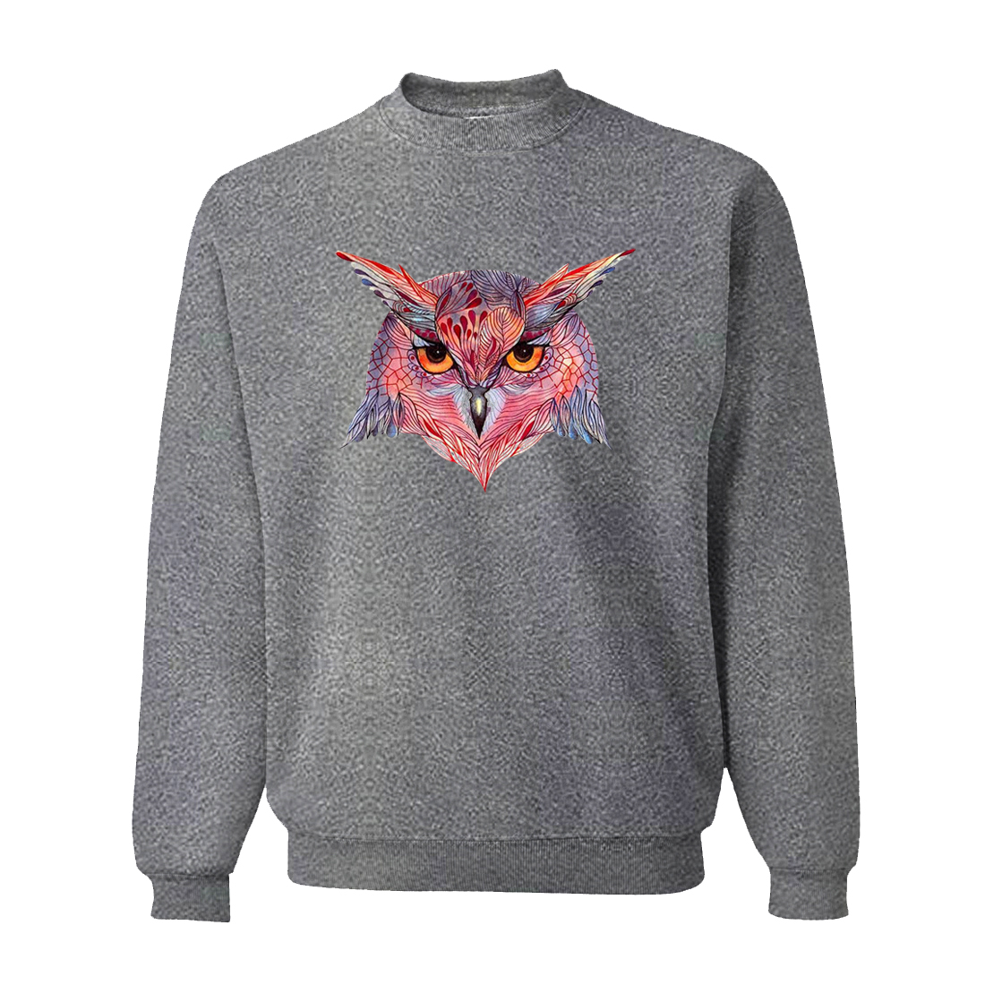 Animal Red Owl Mens Sweatshirt Hoodie 2019 Spring Harajuku Sweatshirts Men Fleece Dark Gray Hoody For Male Brand Clothing CM01