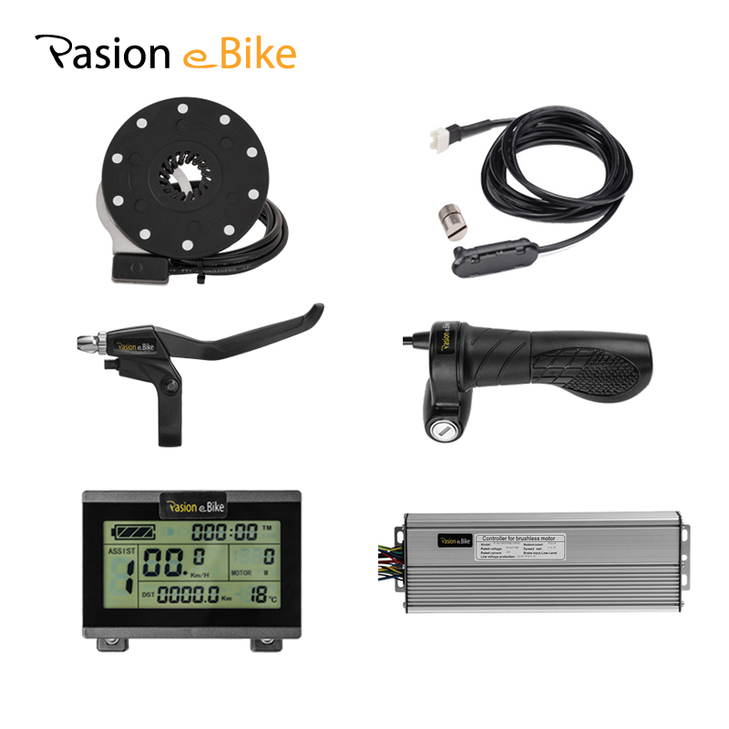 PASION E BIKE Components 1500W 45A Controller and Throttle PAS Sensor Electric Bike Components KT Controller Display LCD3 / 8