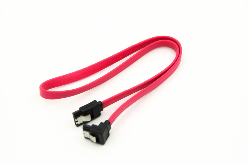 25 bundle SATA Right Angle to Straight DATA HDD Hard Drive Cable 6 Inches Long