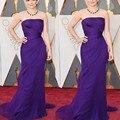 2016 Summer Oscar Celebrity Dress Red Carpet Mermaid Long purple Chiffon Evening Dresses