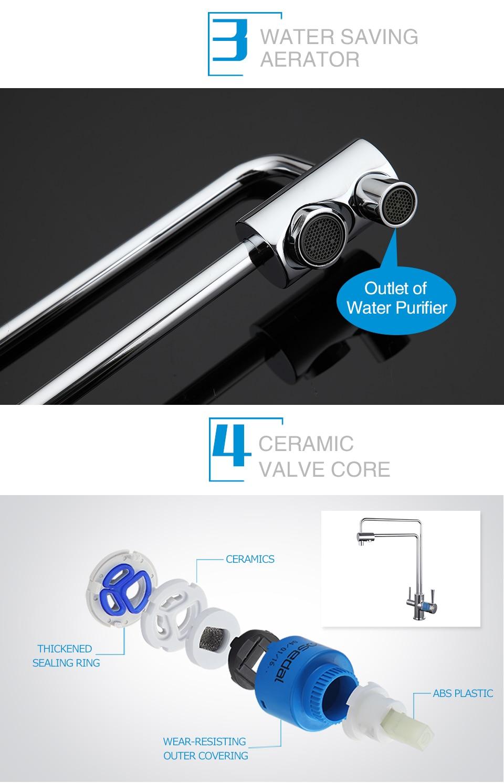 misturador da cozinha água potável saver filtro torneiras G4398-5 4398-6