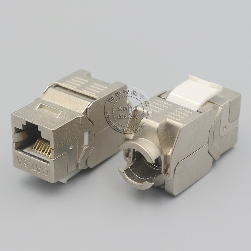 Wall Plate RJ45 Cat6A Shield Network Information Module Socket Outlet Cable Connector