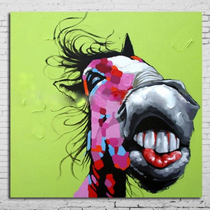 28abbf669 النفط اللوحة جدار ديكور النفط الطلاء الحديث على قماش خلاصة الرسم لوحات الفن  الحديث AN-104 حمار