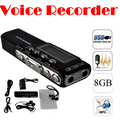 by dhl or ems 50 pieces New 8GB Multi-function USB LCD Digital Voice Recorder Dictaphone Phone MP3 Player