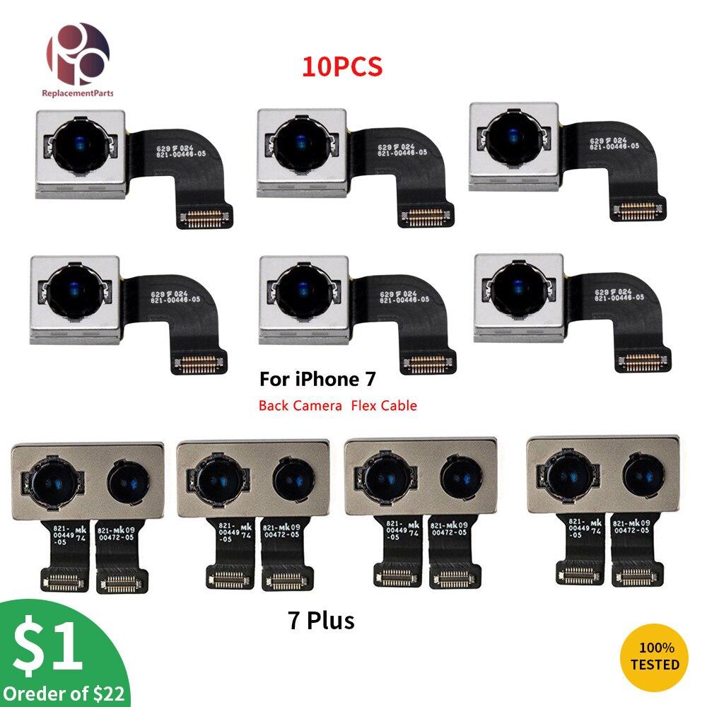 OEM 10 шт. задняя камера для iPhone 7 7G 7 Plus модуль с большой камерой гибкий кабель лента Замена Ремонт Запчасти протестированы бесплатно DHL