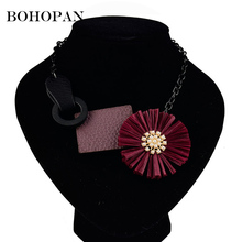 Hot Sale 2018 New Arrival Bohemia Jewelry Big Flower Necklaces & Pendants Women Chokers statement Necklace Fashion Bijoux Femme цена в Москве и Питере