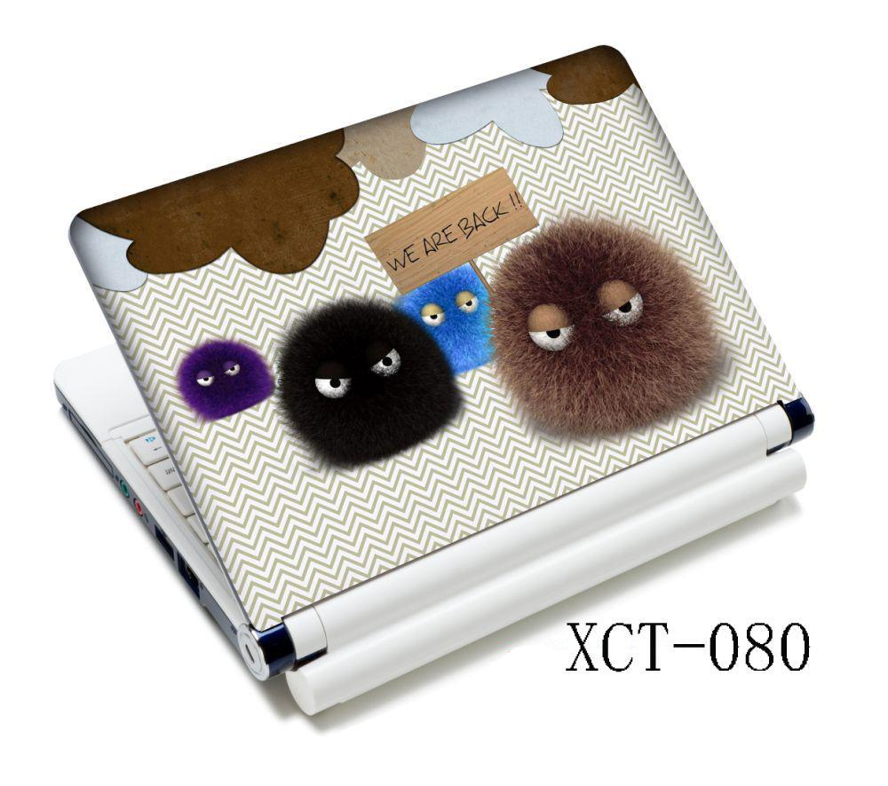 Cute Fuzzy Ball 15.6 Notebook Laptop Skin Sticker Decal Cover Decal For 12 13 14 Inch PC