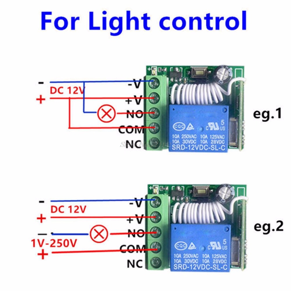 Dc 12v 1ch Relay Receiver Module Rf Transmitter 433mhz Wireless Circuit Diagram Remote Control Switch In Integrated Circuits From Electronic Components Supplies On