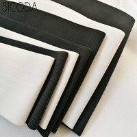 SICODA 5-25 см Широкий белый/черный DIY Швейные эластичные ленты вязаный пояс эластичный резиновый корсет пояс для изготовления