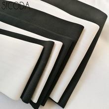 SICODA 5-25cm wide white/black DIY sewing elastic tapes Crochet belt elastic rubber band Corset belt making